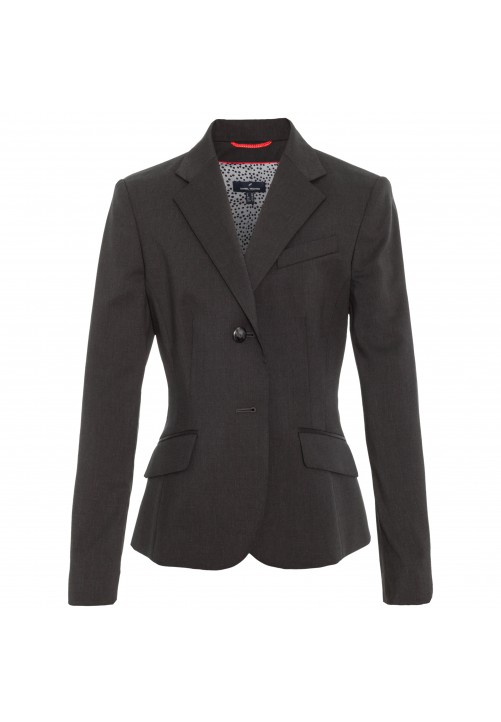 Eleganter Schurwollblazer Careme in Tiefschwarz, anthrazit
