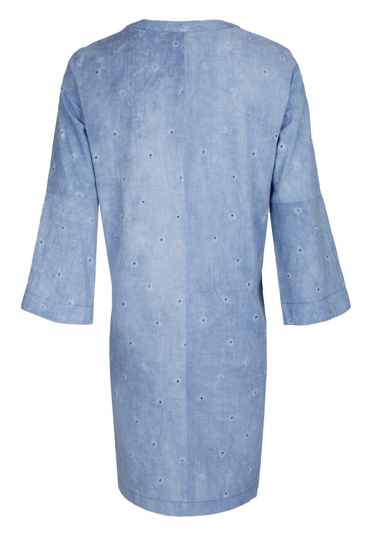 Sommerlich leichtes Kleid mit Trompetenärmeln / Dress
