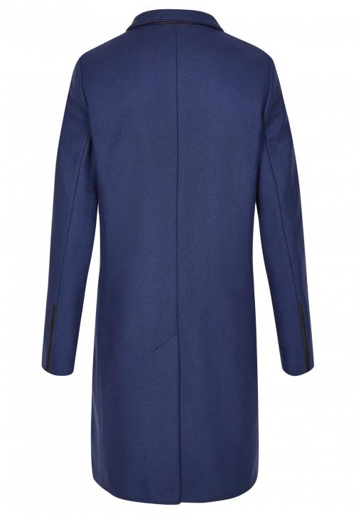 Modischer Mantel, indigo