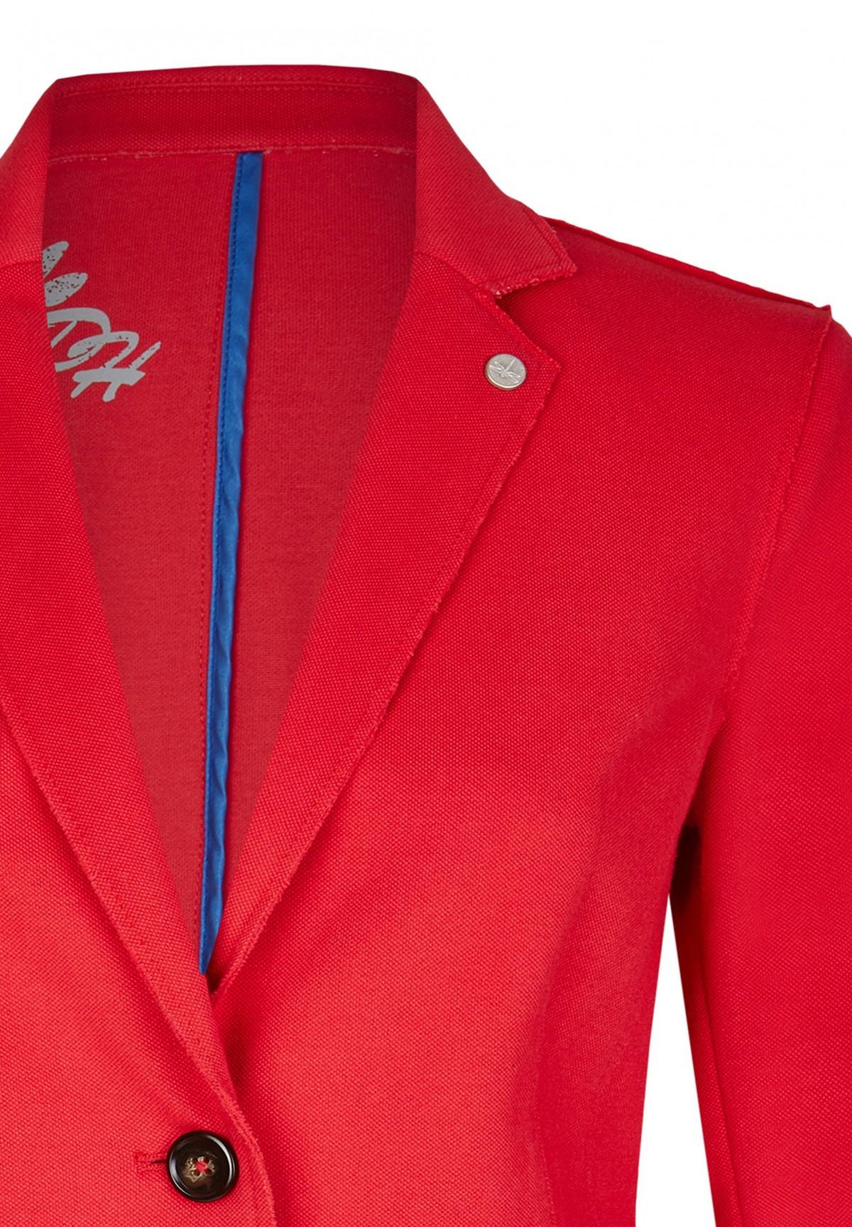 Sportiver Blazer mit Logo-Badge / Pique Blazer