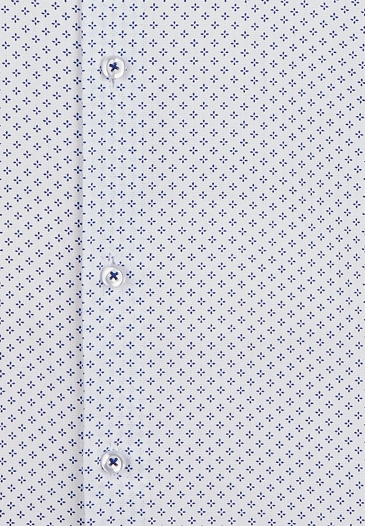 Chemise ville classique à micro-motifs /