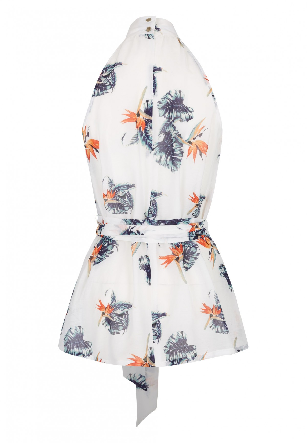 Bluse mit floralem Muster / Bluse
