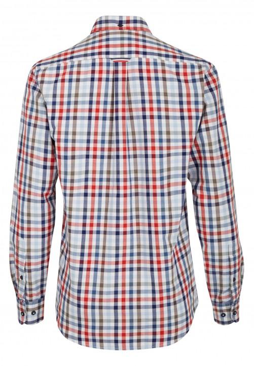 Freizeit-Hemd mit Karo-Muster, marineblau