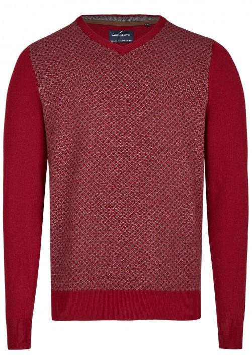 Pullover mit V-Ausschnitt, dark red