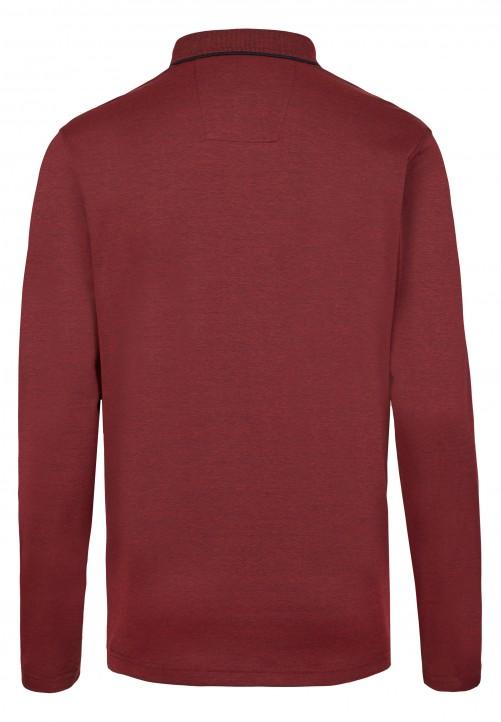 Elegantes Polo-Shirt mit langen Ärmeln, rot