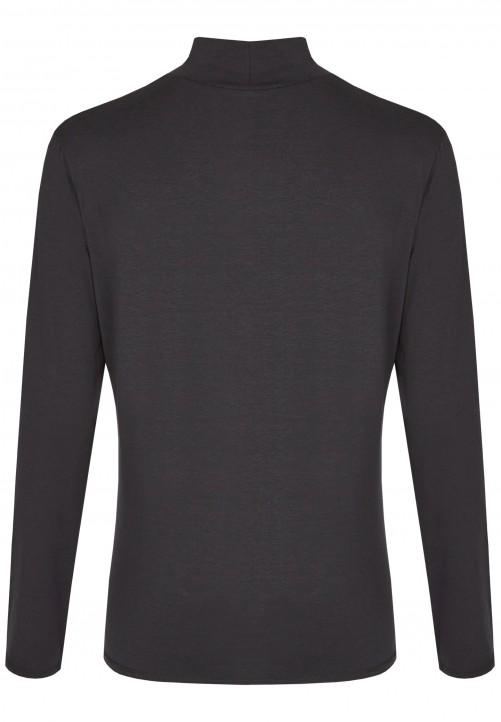 Modisches Turtelneck Shirt, black