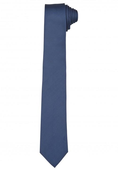 Klassische Krawatte im einfarbigen Design, navy