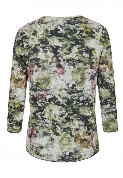 Pullover mit Blumenprint, grün