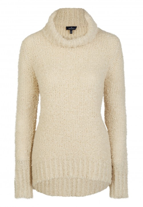 Pullover aus Bouclé-Garn, off White