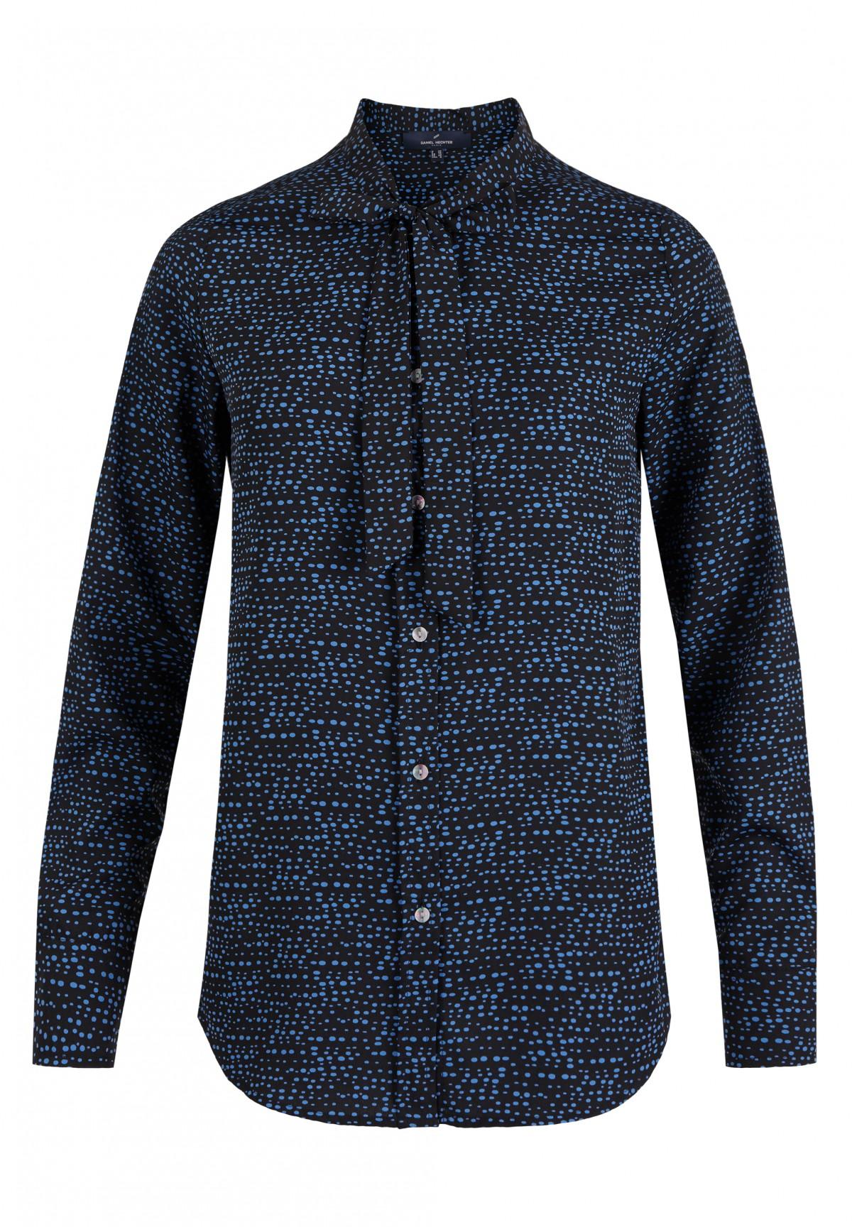 Gepunktete Schluppen-Bluse / Bluse