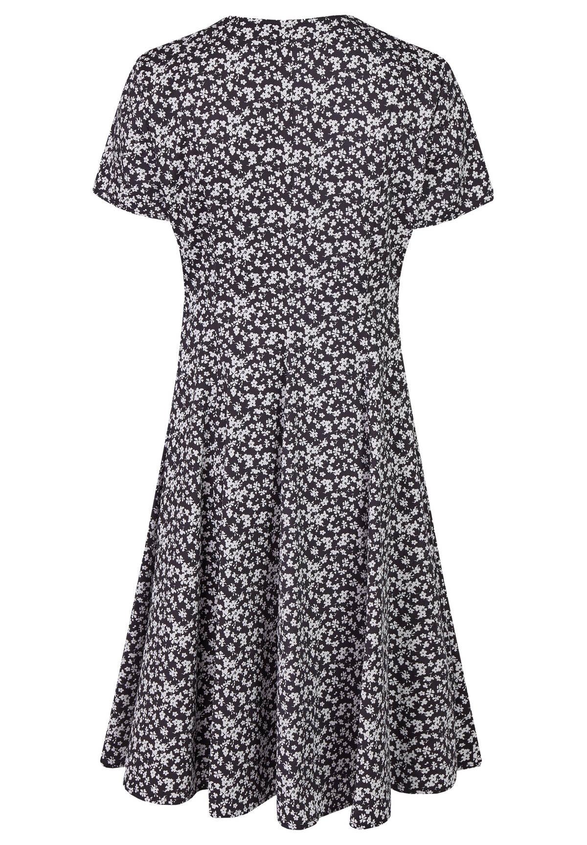 Florales Sommerkleid mit Bindegürtel / Dress