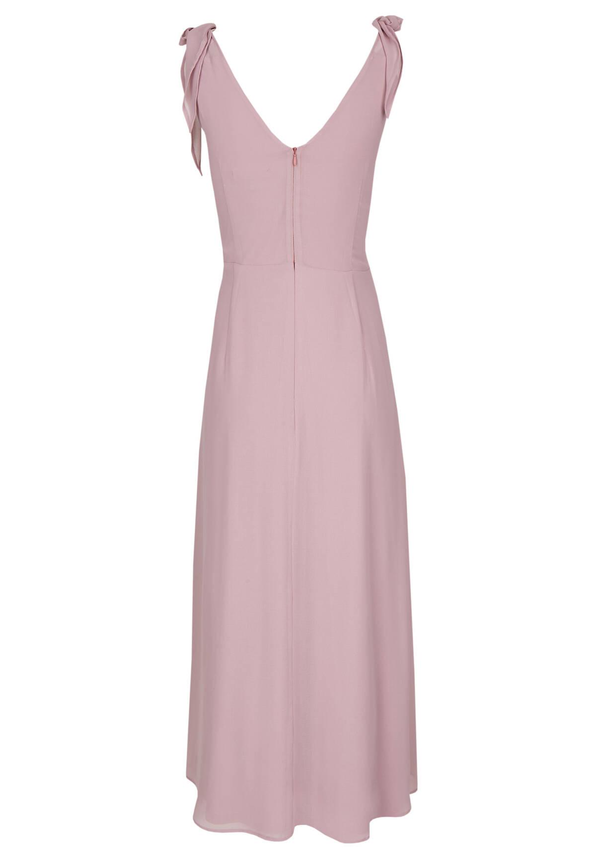 Chiffon-Kleid mit Schleifen-Details / Chiffon Dress