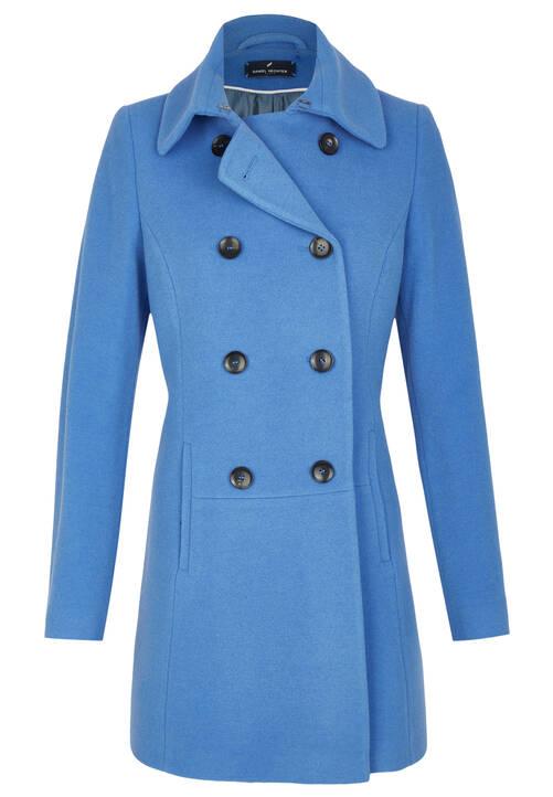 Coat, satin blue
