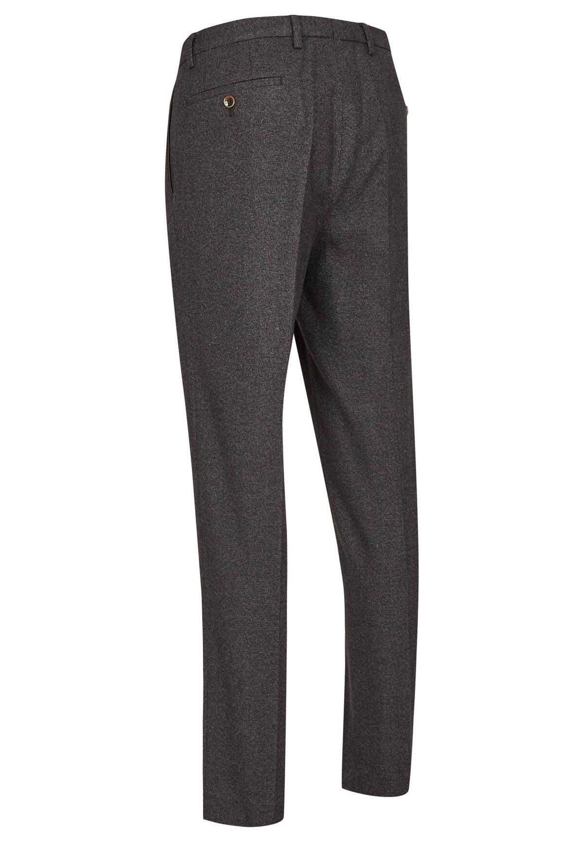 Pantalon droit chiné /