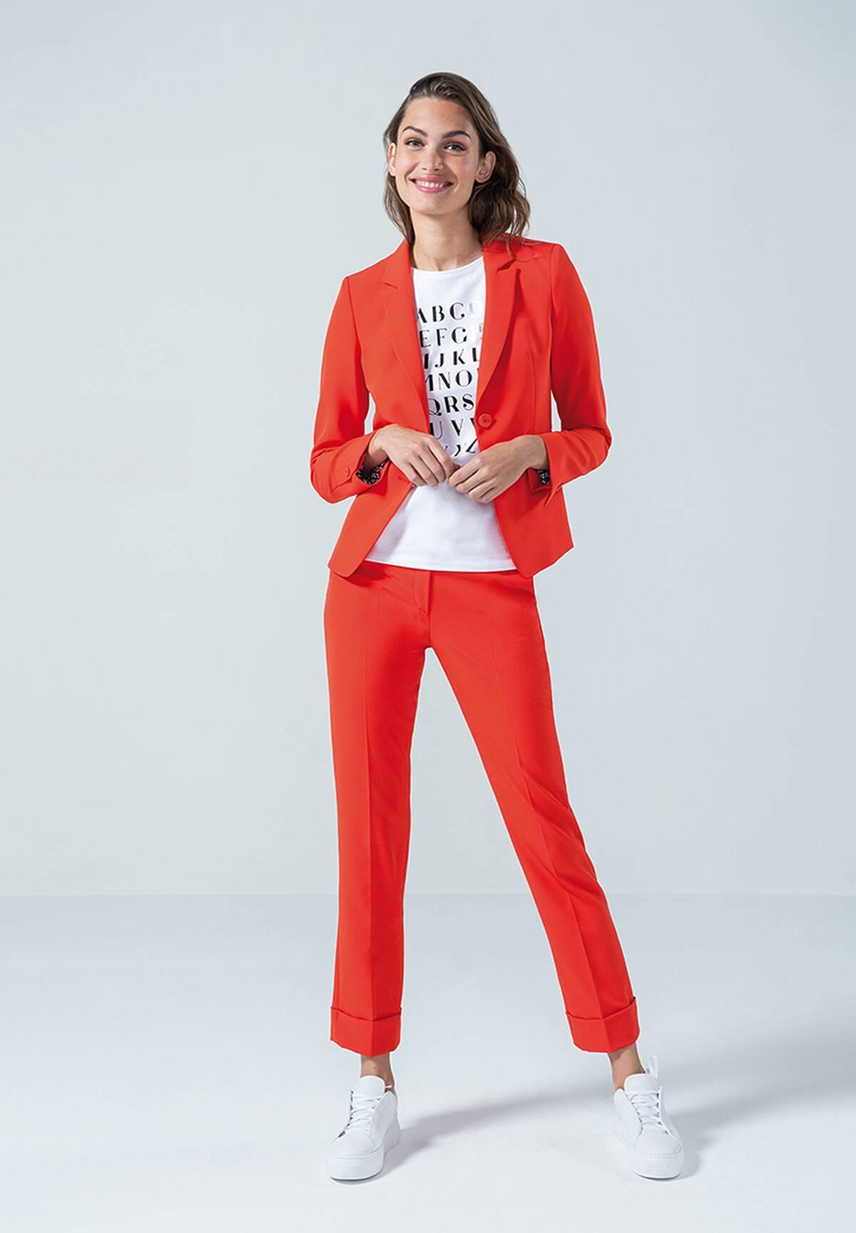 Klassischer Blazer im schlichten Design / Slim Fit Blazer