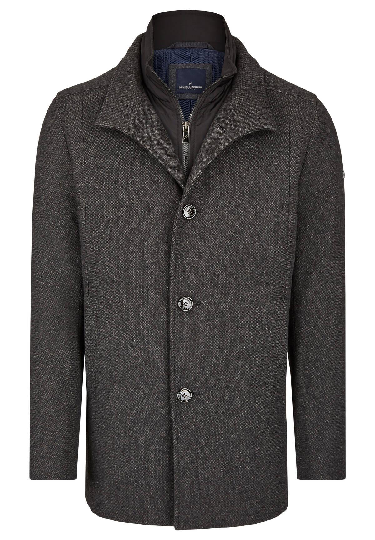 Parka en tweed lainé /