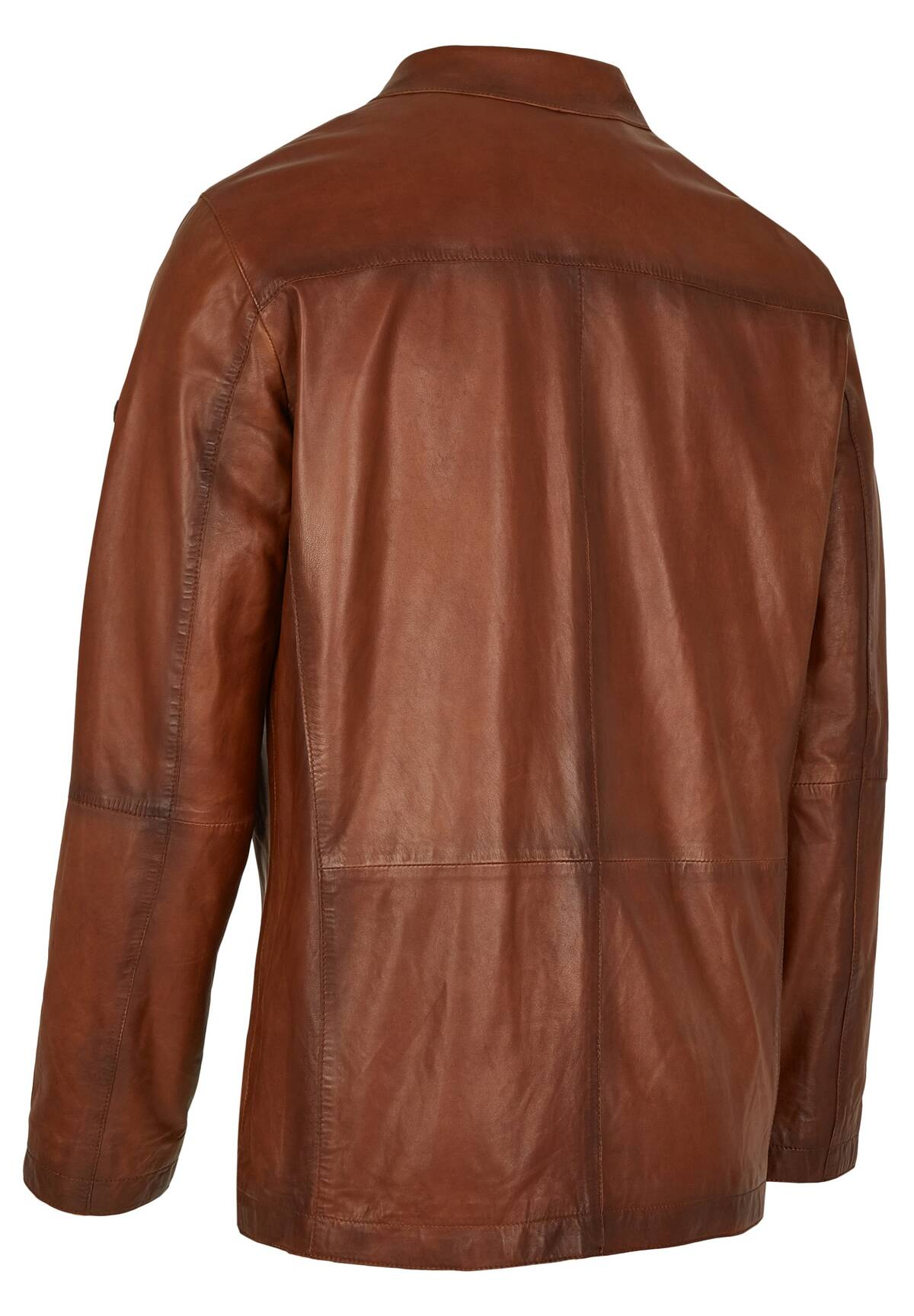 Lässige Fieldjacket Lederjacke / LEATHER-FIELDJACKET