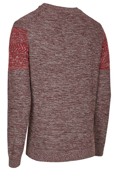 CREW NECK, dark red