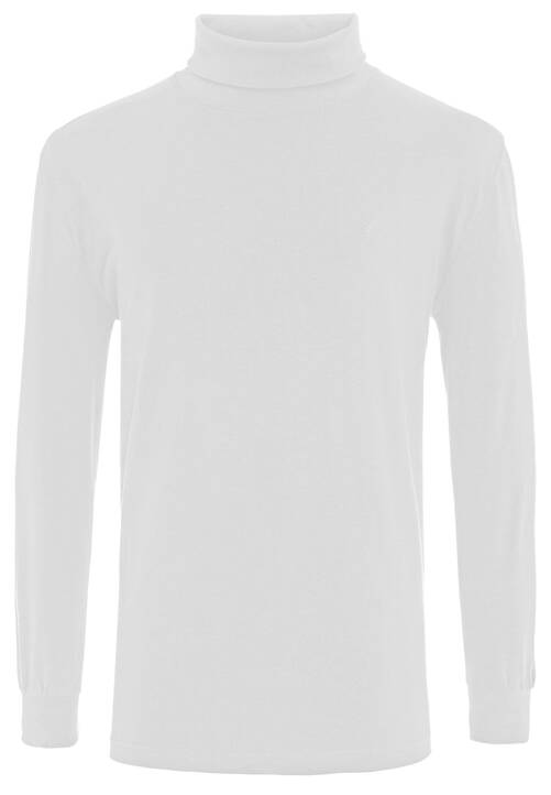 T-SHIRT ROLLNECK, white