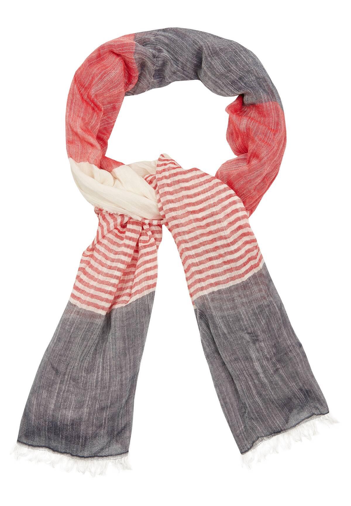 Silvoller Schal in Kontrastfarben / Stripy Scarf